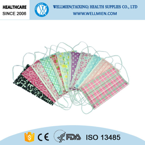 Disposable 3ply Non Woven Printed Mask pictures & photos