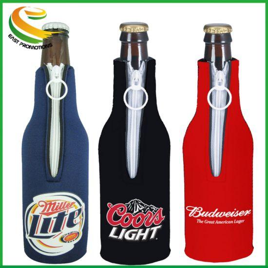 China Hot Sale Neoprene Bottle Cooler with Lanyard - China