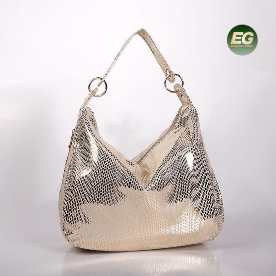 00a41da37 Women Shiny Handbags Trendy Tote Bag PU Shoulder Bag Sh469 pictures & photos