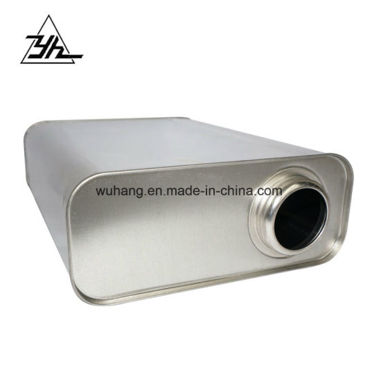 Square Metal Tin Can 1 Liter Resealable Tin Box with Top