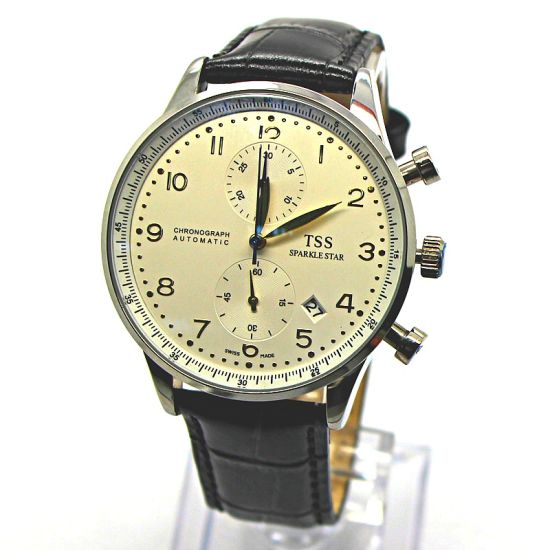 3229964e06 Luxury 3ATM Water Resistant Men′s Multifunction Watches with Alloy Case and  Leather Band. Get Latest Price