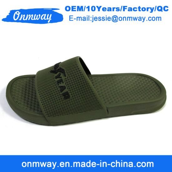 75d1bdf31 China Good Quality EVA Promotion Famous Brand Name Slippers - China ...