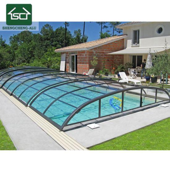 Low Cost Swimming Pool Roof Aluminium Swimming Pool Enclosure