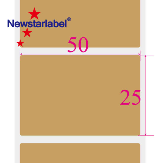 50mm*25mm Blank Label Barcode Address Zebra Printer