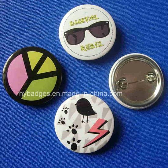 China Custom Button Badge Cute Design Printing Tin Pin (GZHY