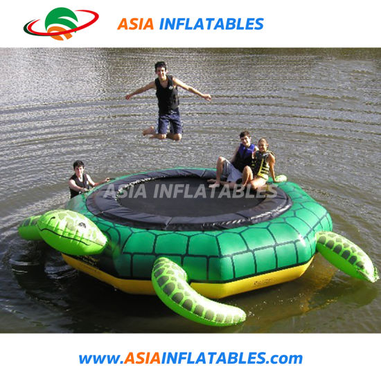 Cheap Inflatable Turtle Water Trampoline, Commercial Jumping Trampoline Water Toy for Sale pictures & photos