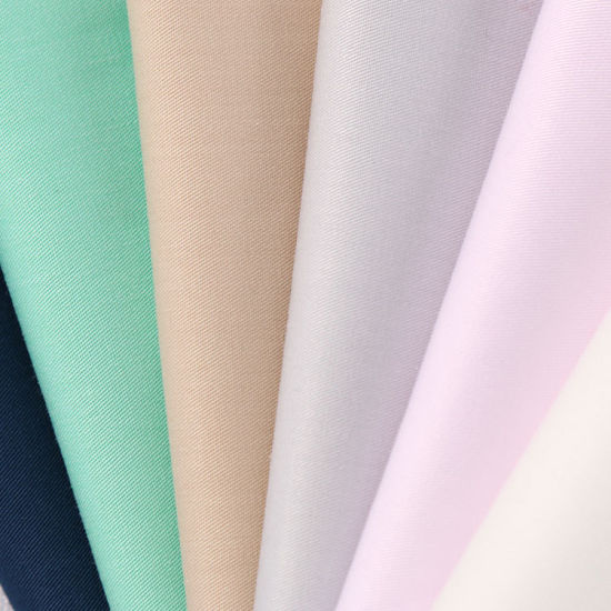 Cotton Polyester Tc Two Ways Stretch Spandex Twill Fabric