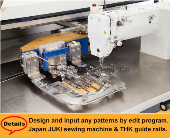China Fully Automatic CNC No Ironing Jeans Shirts Patch Pocket Interesting Automatic Sewing Machine For Shirts