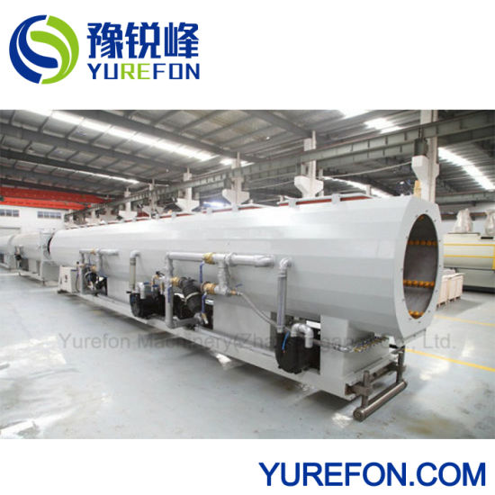 High Capacity HDPE PP Pipe Twin Screw Extruder Water Tube Making Plastic Machine pictures & photos