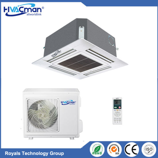 4 Way Cassette Commercial Air Conditioner Conditioning Cooler 1pH 230V 50Hz Certificated EU