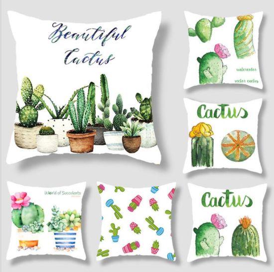 Cactus Cushion, Tropical Wind Green Cushion, Decorative Room Sofa Car