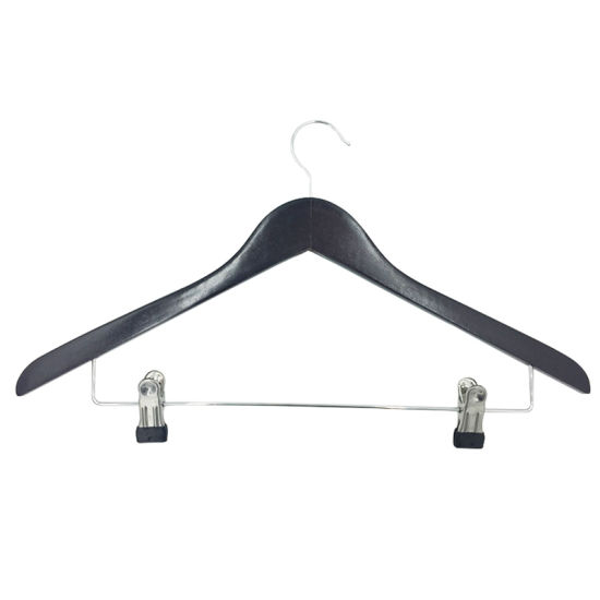 Fashion Custom Wooden Hangers with Logo for Clothes Displaying in Shop or Boutique
