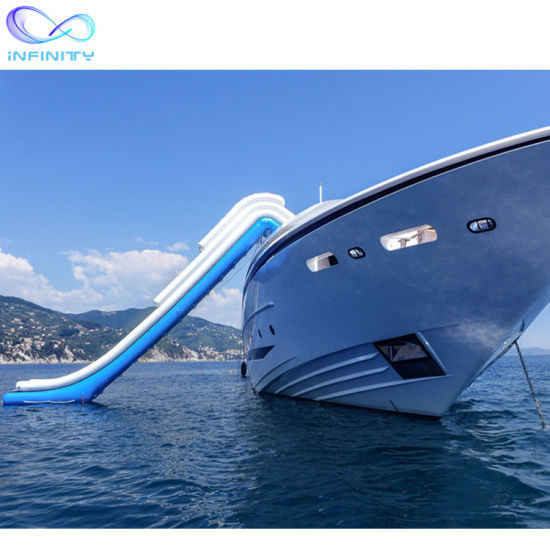 Quality Inflatable Water Slide for Boat 0.9mm PVC Inflatable Yacht Water Slide Commercial Sealed Water Yacht Slide pictures & photos