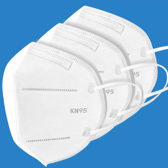 Reusable Kn95 Wholesale White Non-Woven Face Mask 4 Ply Earloop Face Mask