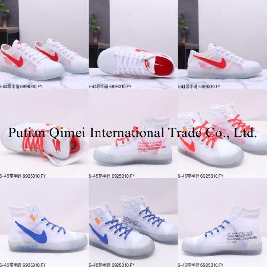 off White Blazer MID High Low Top Mesh Yarn Putian Shoes