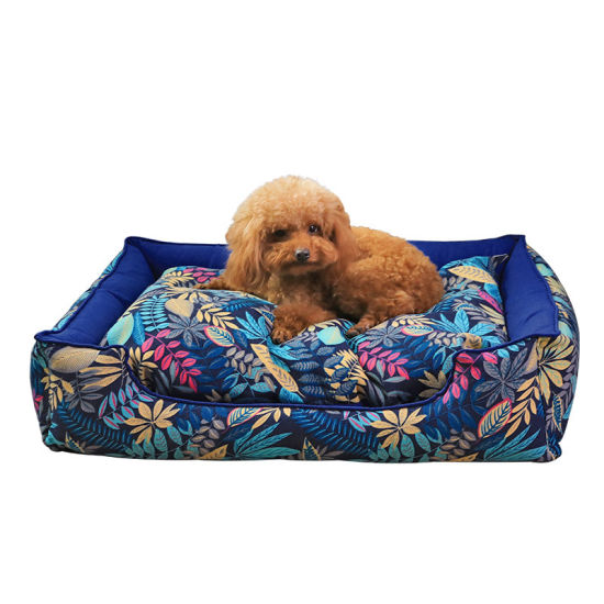 High Quality Pretty Pattern 100% PP Cotton Comfortable and Warm Pet Sofa Dog Sleeping&Rest Bed Supply