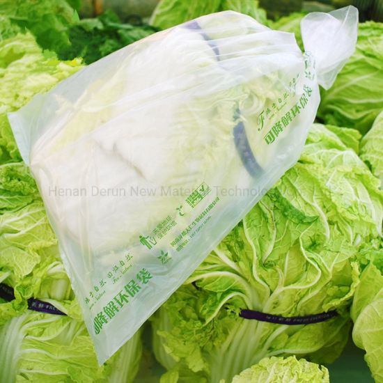 HDPE LDPE PLA Pbat Plastic Food Storage Biodegradable Compostable Environment-Friendly Printing Supermarket Special Fruit Flat Bags in Roll