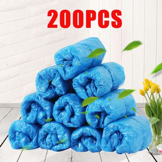 200Pcs Disposable Shoe Covers Boots Cover Workplace Indoor Carpet Overshoes