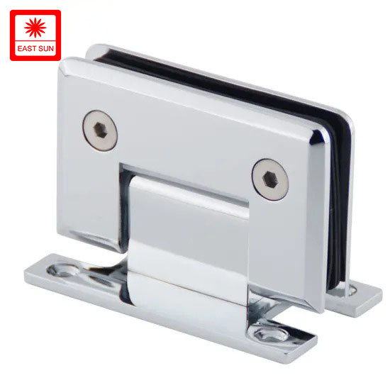 90 Degree Dobradica Stainless Steel Clip bathroom Hardware Glass Fitting Wall to Glass Hinge Shower Door Hinge with H Plate (ESH-301H)