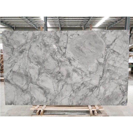 China Home Decoration Grey White Marble Slabs Stone For Flooring Fireplace Countertop Workbench Table Top Floor Tile Background Wall Tiles China Marble Marble Stone