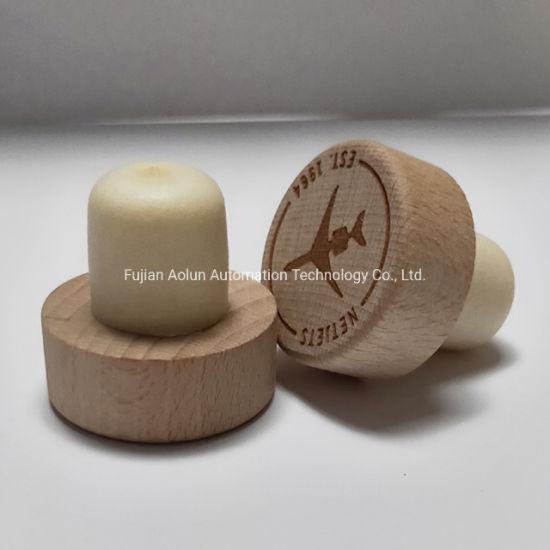 Wholesale Wooden Top Synthetic Wine Bottle Cork Stopper