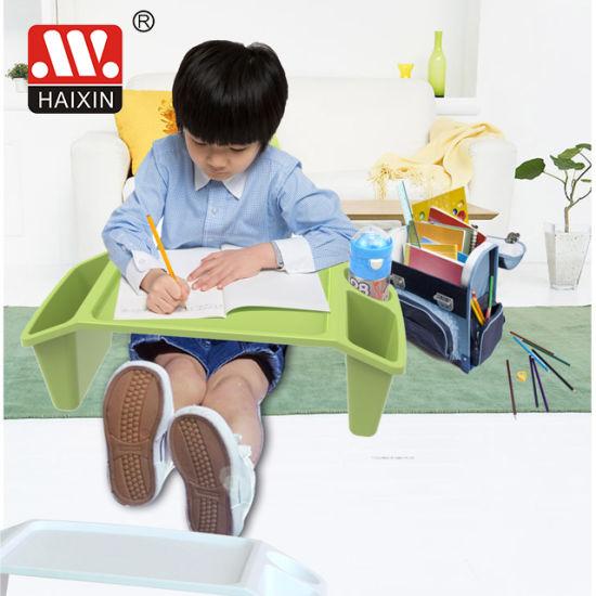 School Plastic Kids Lap Study Desk with Storage