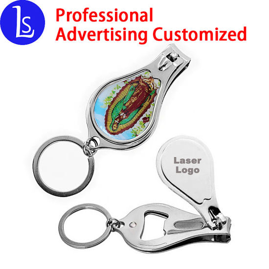 China Yiwu Keychains Wholesale Custom Bottle Opener Nail Clipper Metal Key Chain pictures & photos