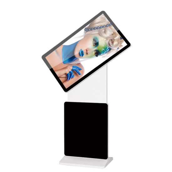 43 Inch Vertical Rotary Advertising Machine Floor Standing LCD Touch Display