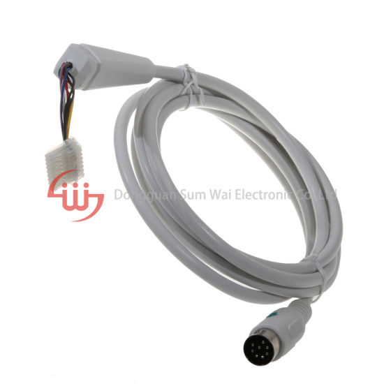 Customized DIN AMP Terminal Block Medical Device Connecting Cable