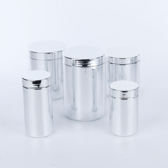 250ml Plastic HDPE Container Chrome Glossy Bottles
