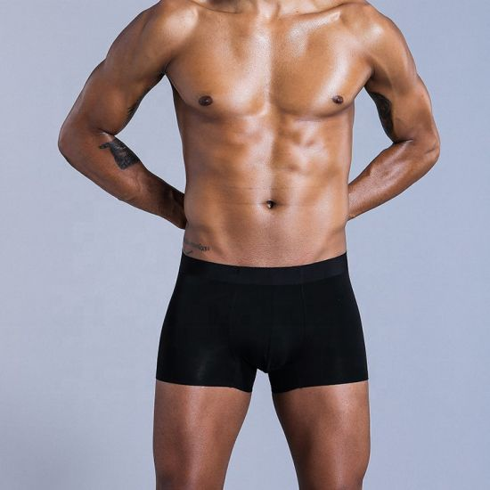 Wholesale Men Breathable Knitted Boxer Shorts Modal Seamless Men's Underwear