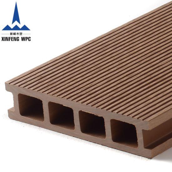 Anti Slip Wood Plastic Composite WPC Deck Floor
