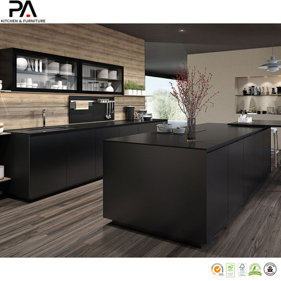 China Modern Luxury Black Kitchen Cabinets China Kitchen Cabinets Kitchen Furniture