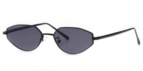 Fashion Small Style Sunglasses, Rose Gold Metal Black Shade