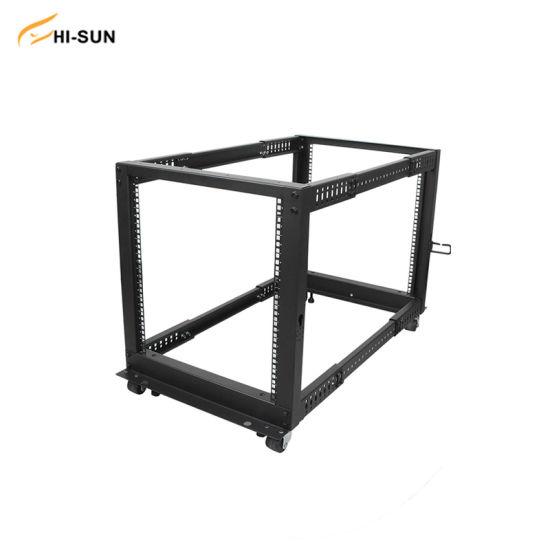 12u Open Frame Server Rack Network Cabinet Adjustable Depth 4-Post Data Server Rack