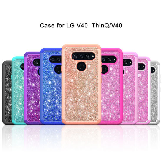2 in 1 PC TPU Giltter Phone Case for iPhone 7/8/X/Xs Max