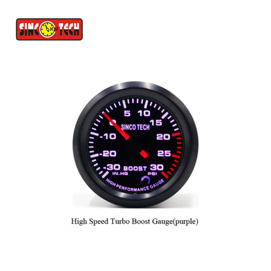 China Automotive Turbo Boost Gauge 7 Color Turbo Sensor Kit Sinco ...