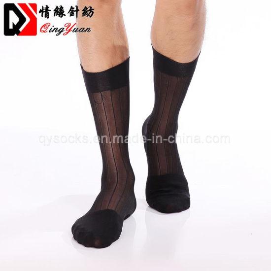 e5f48d8b0f8 China Custom Color Thin Nylon Business Men Silk Socks - China Socks ...