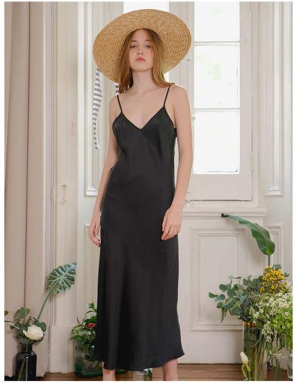 Lady French 100% Elegant Silk Dress Silk One-Piece Skirt