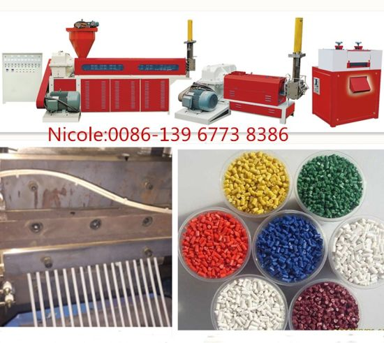 High Output 2 Screw Waste Plastic Recycle Machine PP PE Recyling Machine Price