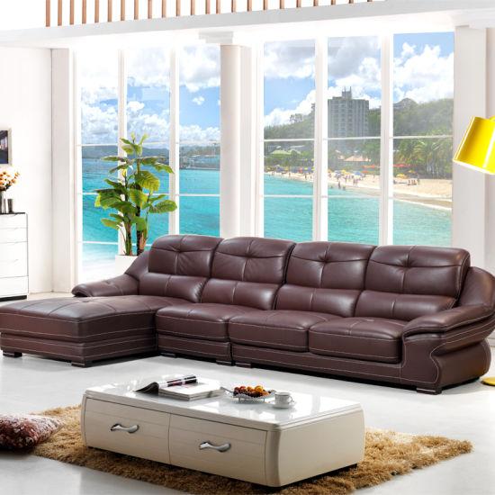 L Shape Pure Leather Sofa