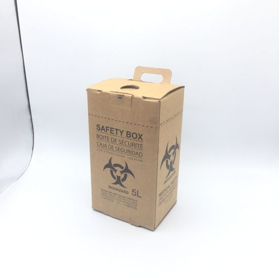 Wholesale Customized 10L Syringes Disposal Cardboard Medical Safety Box with High Quality