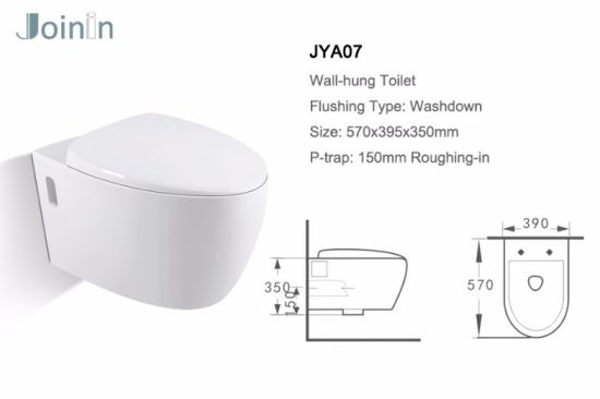 Sanitary Ware Bathroom Water Closet Ceramic Wc Wall Hung Toilet From Chaozhou (JYA07) pictures & photos