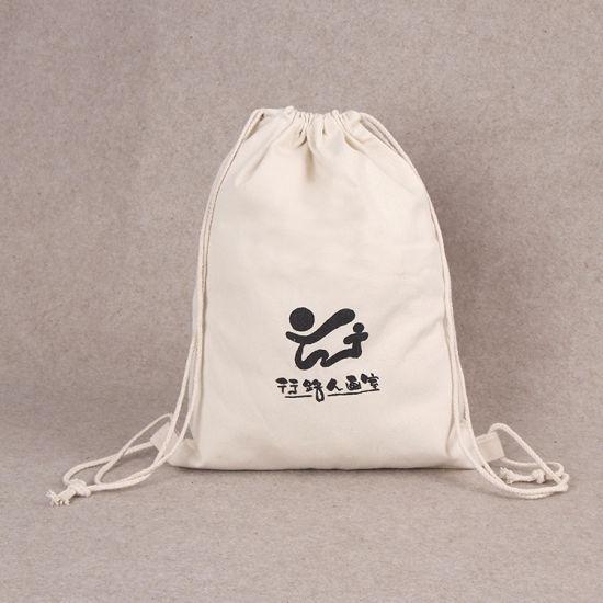 50b88618bfcf China Customized 100% Cotton Canvas Drawstring Backpack, Promotional ...