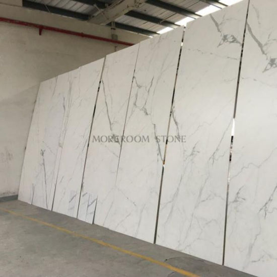 Foshan Glazed Calacatta White Marble Look Porcelain And Ceramic Flooring Tiles