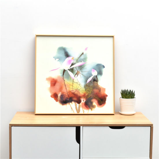 China Gold Painting Frame Aluminum Wall Frame Factory Price Art