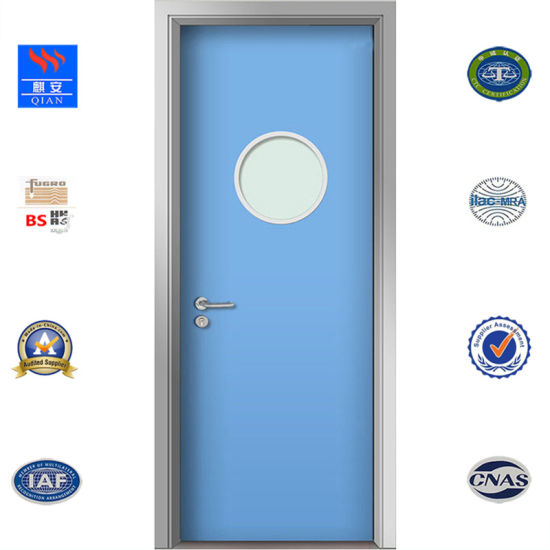 Customized Color Door Interior Wooden Door for Hospital, School, Hotel, House