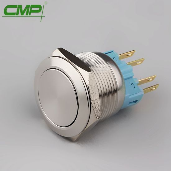 CMP 22mm Anti-Vandal Momentary or Self-Locking Push Button with Micro Switch
