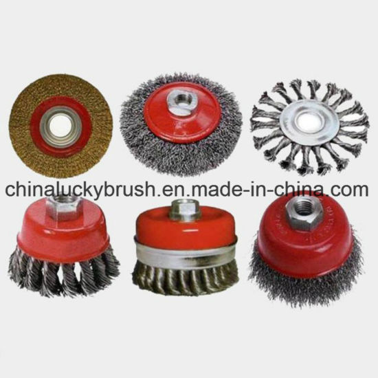 Steel Wire/Brass Wire Wheel Brush for Grinding (YY-335) pictures & photos