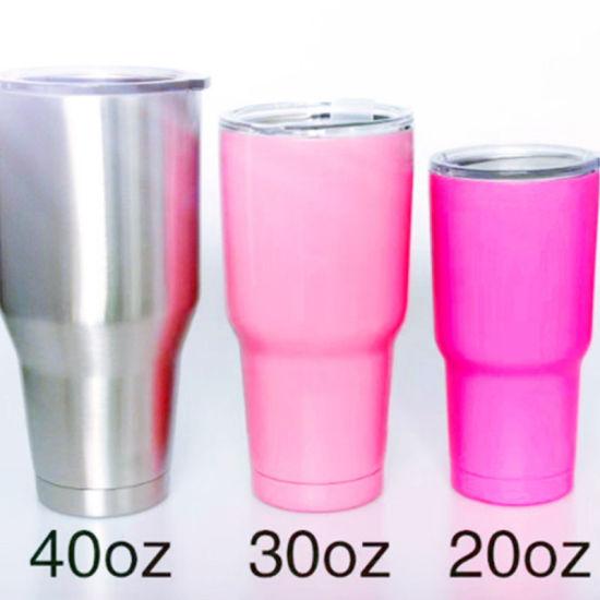 25b508c86f5 20oz 30oz 40oz Powder Coated Double Wall Stainless Steel Vacuum Insulated  Travel Mug